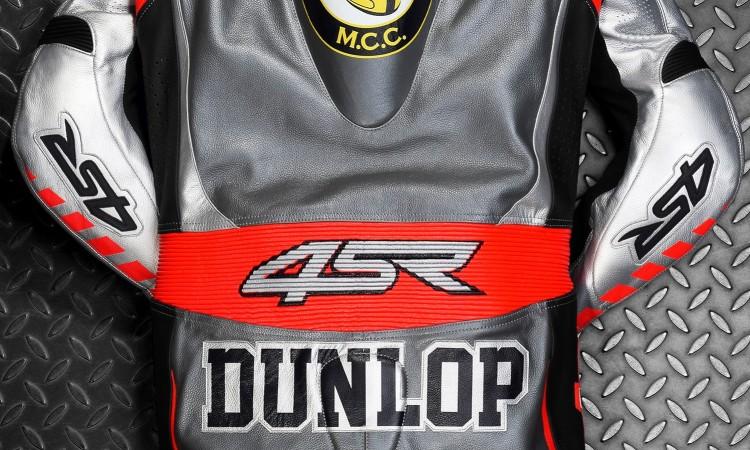 Kvalitní motocyklové oblečení 4SR - kombinéza pro Garyho Dunlopa